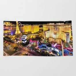 Las Vegas Nevada Skyline Beach Towel