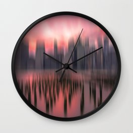 New city red Wall Clock