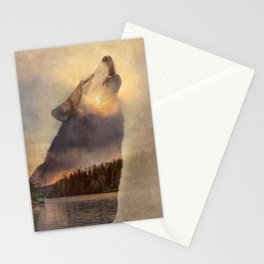 """Howling Wolf Lake Sunset """"Multiple Exposure"""" Fine Art Print Stationery Cards"""