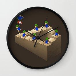 Lem C. Escher (brown variant) Wall Clock