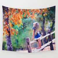 child Wall Tapestries featuring Autumn Child by EclipseLio