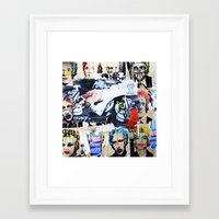 celebrity Framed Art Prints featuring Celebrity by Paper Possible