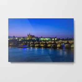 Blue Prague Metal Print