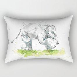 Splashy baby elephant Rectangular Pillow