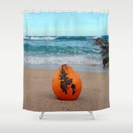 Coconut on the Beach Shower Curtain