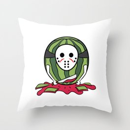 """""""Masked Watermelon"""" tee design. Makes a nice tee gift to your friends and family!  Throw Pillow"""