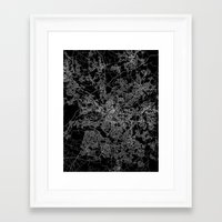 manchester Framed Art Prints featuring Manchester  by Line Line Lines