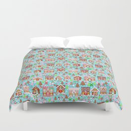 Gingerbread House Christmas Winter Candy, sweets.christmas gift, holiday gift for kids of all ages, Duvet Cover