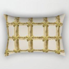 bamboo grid Rectangular Pillow