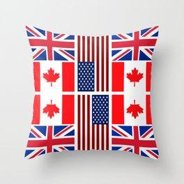 ABC Three Flags Throw Pillow