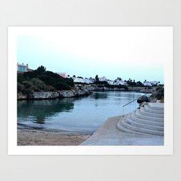 Hidden Beach in Ciutadella Art Print
