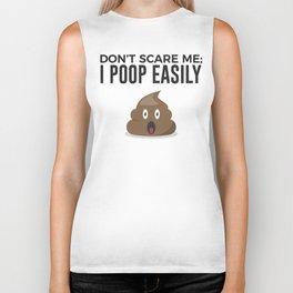 Don't Scare Me Poop Halloween Design Biker Tank