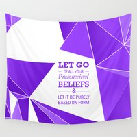 let it go Wall Tapestries featuring Let Go by Roderick Moise