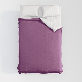 Dark Fuchsia Solid Color Pantone Willowherb 18-3120 Accent to Color of the Year 2021 Comforters