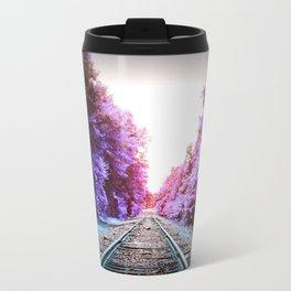 Train Tracks Bright Travel Mug