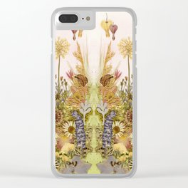 Pink Garden mirrored Clear iPhone Case