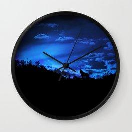lone wolf Wall Clock