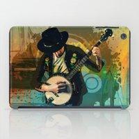 banjo iPad Cases featuring Banjo Man by Bedros Awak