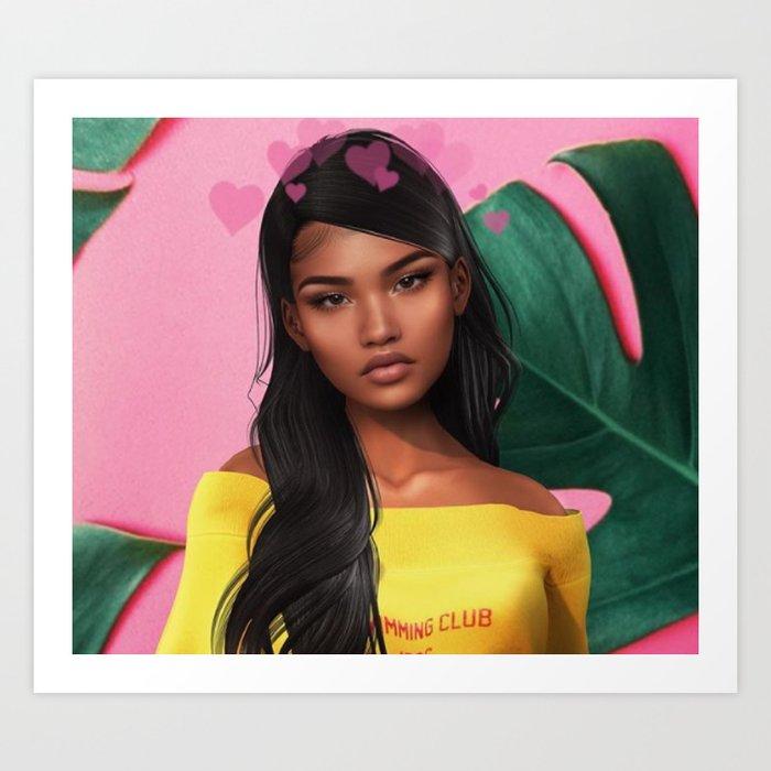 honey.   bleu's creations Art Print