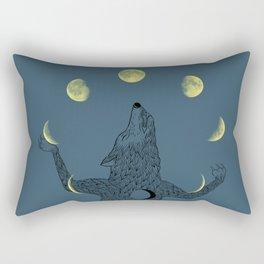 Moon Juggler Rectangular Pillow