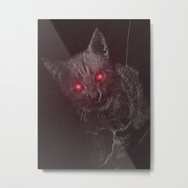 Bad Kitty! Metal Print