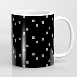 Black and White Geometric 8 Coffee Mug