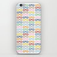 Rainbow Shutter Shades iPhone & iPod Skin