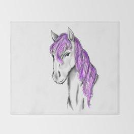 Princess Horse Throw Blanket