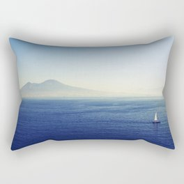 Naples sea at morning Rectangular Pillow