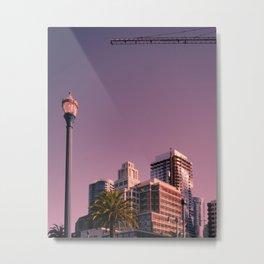 Embarcadero, with Crane and Street Lamp Metal Print