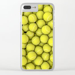 Tennis balls Clear iPhone Case