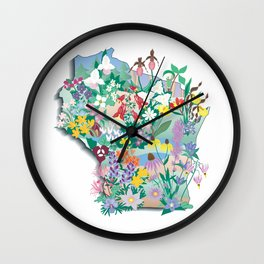Wisconsin Wildflowers Wall Clock