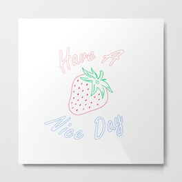 Have a Berry Nice Day Metal Print