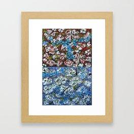 flowers-in-my-brain Framed Art Print
