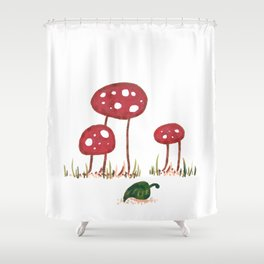 Fall Shrooms Shower Curtain