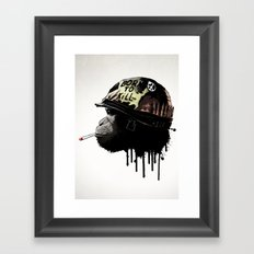 Born to kill Framed Art Print