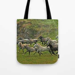 Running with wind Tote Bag