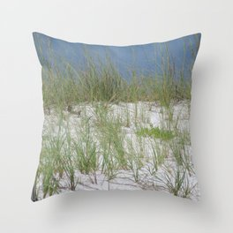 Sea Oats and Sand Dunes Throw Pillow