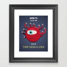 Beauty of the Beholder Framed Art Print