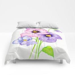 Pretty Pansies Comforters