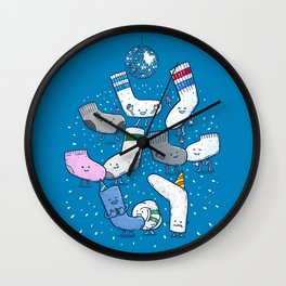 Lost Sock Party Wall Clock