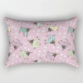 Pajama'd Baby Goats - Pink Rectangular Pillow