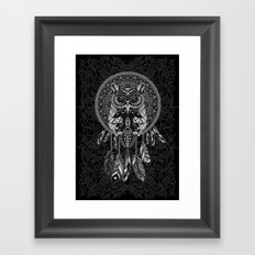 Indian Native OwL Dream Catcher iPhone 4 4s 5 5s 5c, ipod, ipad, pillow case and tshirt Framed Art Print