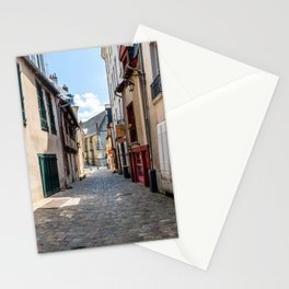 Street in historic centre of Rennes Stationery Cards