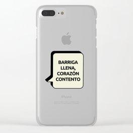 Barriga llena, Corazón contento Clear iPhone Case