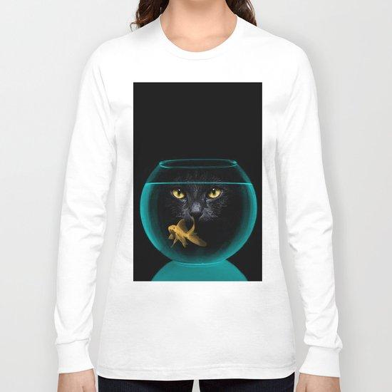 Black Cat Goldfish II Long Sleeve T-shirt