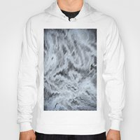monet Hoodies featuring Monet Style Blue abstract by David Pyatt