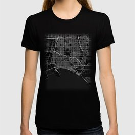 Minimal Long Beach California City Map Tee T-shirt