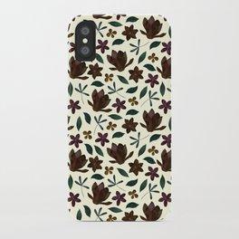 Fall Flower Garden iPhone Case