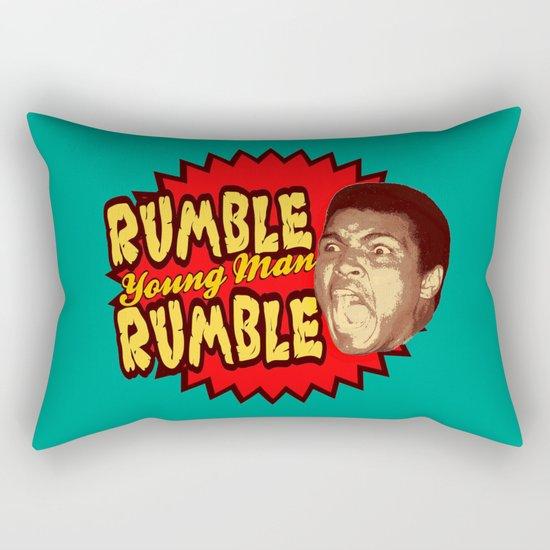 Rumble Young Man Rumble  |  Ali Rectangular Pillow